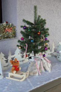 décoration de l'atelier de Noël pour se mettre dans l'ambiance festive